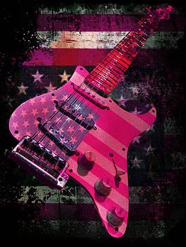 USA Pink Strat Guitar Music by Guitar Wacky