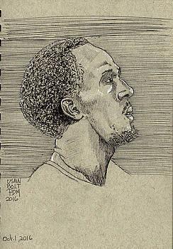 Usain Bolt by Frank Middleton