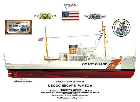 USCGC Escape WMEC 6 for the 1980s to DC by George Bieda