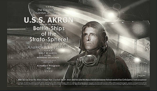 USS Akron - Zeppelin by James Vaughan