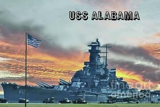 USS Alabama BB-60 by Janette Boyd