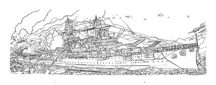 USS Arizona by Stephen Carcello
