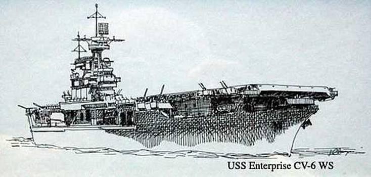 USS Enterprise CV-6 by Jim Clary