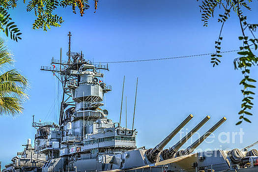 USS Iowa BB 61 Battleship by David Zanzinger