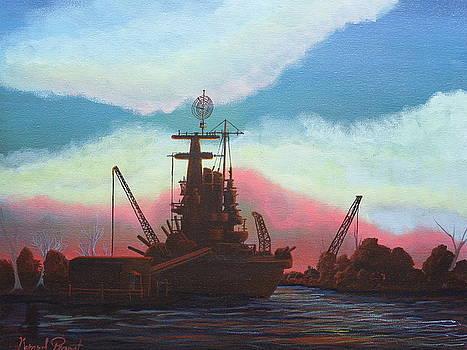 USS North Carolina by Gerard Provost
