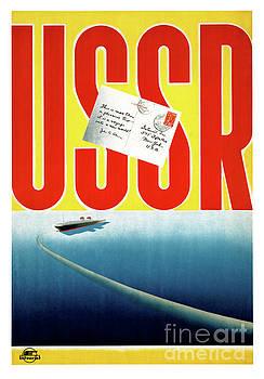 USSR Vintage Cruise Travel Poster Restored by Carsten Reisinger