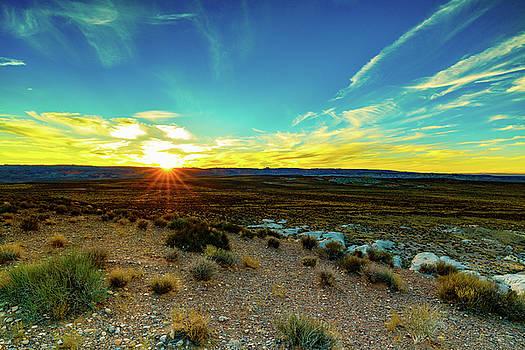 Utah Desert Sunset by Raul Rodriguez