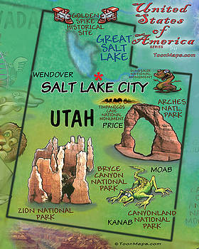 Utah Fun Map by Kevin Middleton