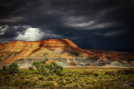 Utah Mountain with Storm Clouds by John A Rodriguez