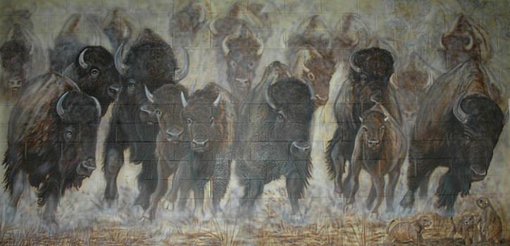 UTTC Buffalo Mural Center Panel by Wayne Pruse
