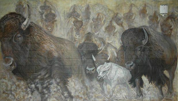 UTTC - Buffalo Mural Left Panel by Wayne Pruse