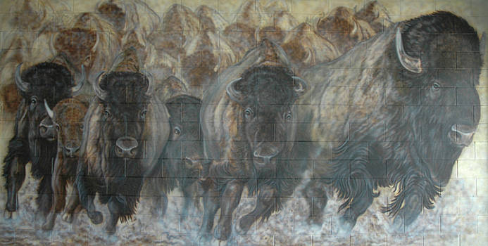 UTTC Buffalo Mural Right Panel by Wayne Pruse