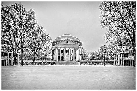 UVA Rotunda Winter 2016 by Kevin Blackburn