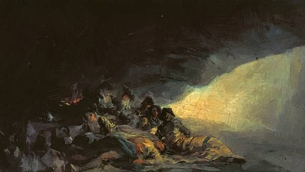 Vagabonds Resting In A Cave 1800 by Goya Francisco