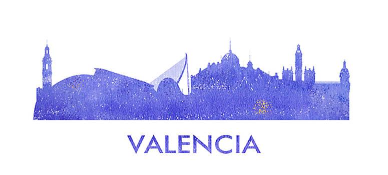 Vyacheslav Isaev - Valencia city purple skyline