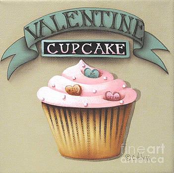 Valentine Cupcake Small by Catherine Holman