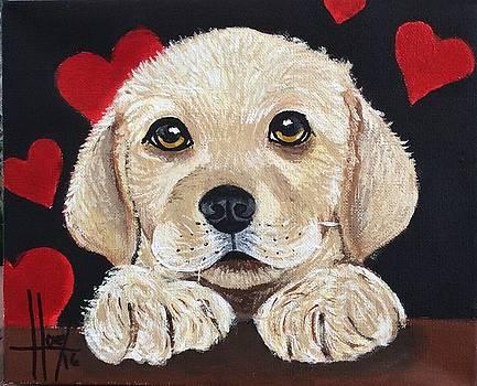 Valentine Puppy by Lorena De Gaitan