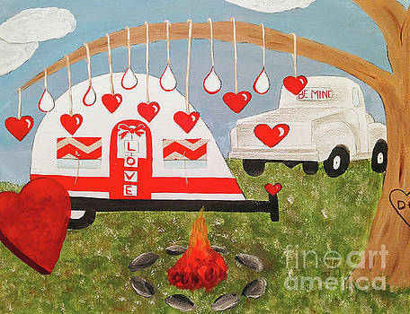 Valentines Day Camping by Danielle Allard