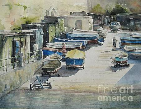 Valletta Boat Houses by Diane Agius