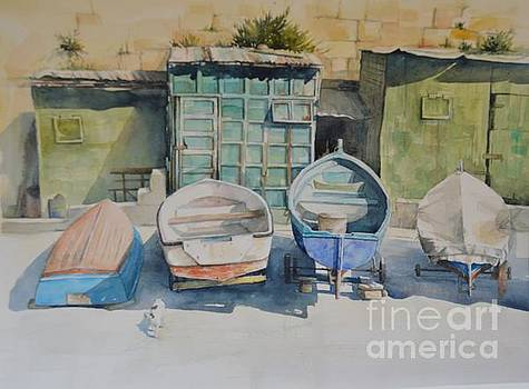 Valletta Boats by Diane Agius