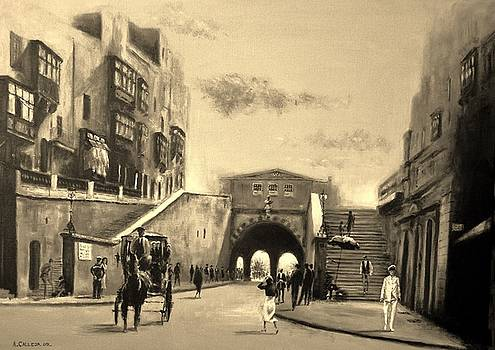Valletta  Entrance  1941 by Tony Calleja