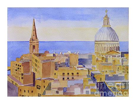 Valletta roof tops by Godwin Cassar
