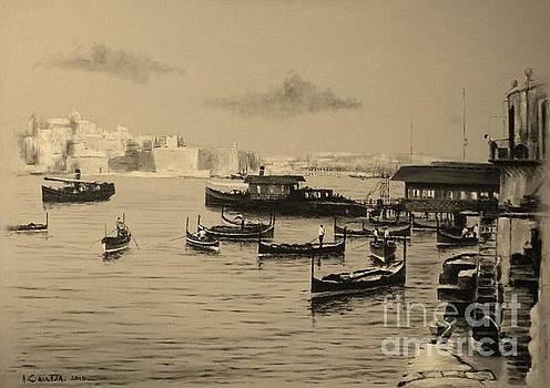 Valletta Waterfront. 1935 by Tony Calleja