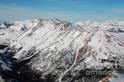 Steve Krull - Valley Below Summit of Mount Elbert Colorado in Winter