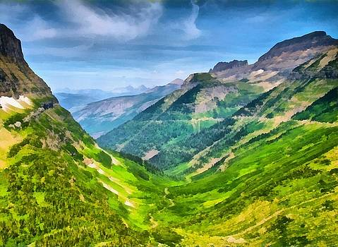 Valley floor far below by Ashish Agarwal