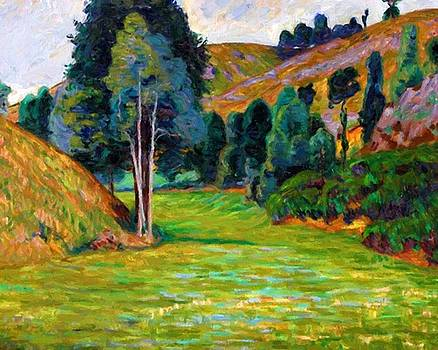 Valley In Pontgibaud 1890 by Guillaumin Armand