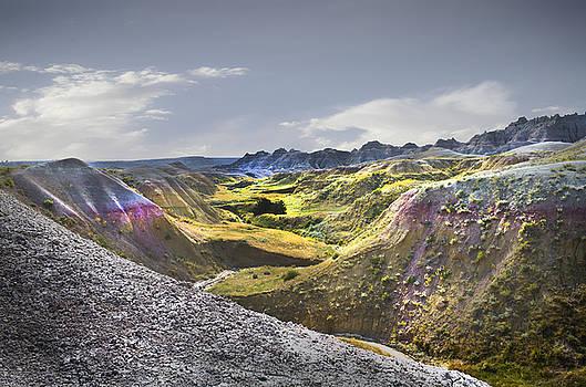 Valley of Beauty,Badlands South Dakota by John Hix