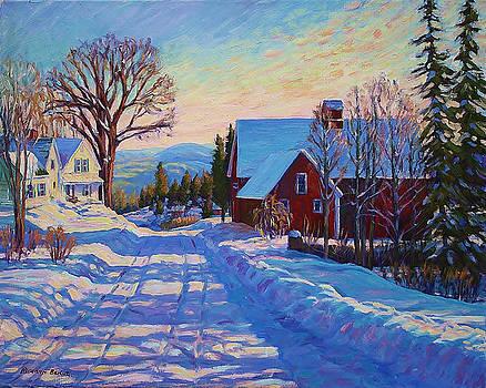 Valley Road -Winter by Roseann Berluti