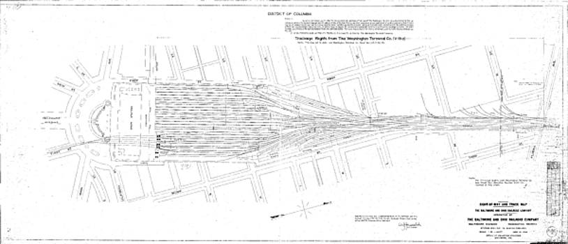 Valuation Map Washington Union Station by Baltimore and Ohio Railroad