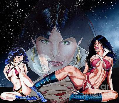 Vampirella Collage by Bill Richards