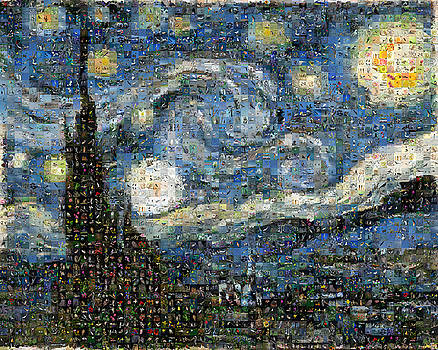 Van Gogh - Starry night by Gilberto Viciedo