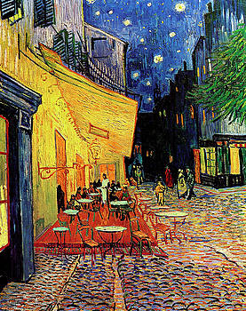 Van Gogh Cafe Terrace Place du Forum at Night by Vincent Van Gogh