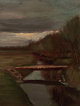 Van Gogh Ditch and Small Bridge by Vincent Van Gogh