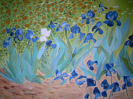 Van Gogh Iris by Alanna by Alanna Hug-McAnnally