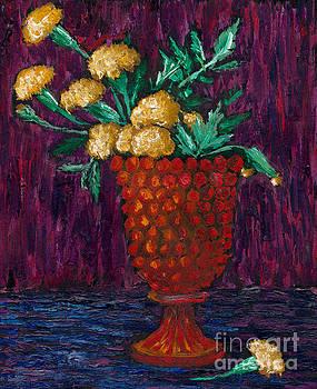 Van Gogh Marigolds by Sara Jo Rosenberg