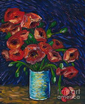 Van Gogh Poppies by Sara Jo Rosenberg
