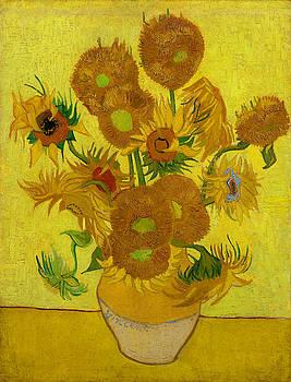 Van Gogh - Sunflowers 1889 by Bishopston Fine Art