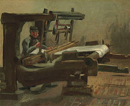 Van Gogh Weaver Facing Right by Vincent Van Gogh