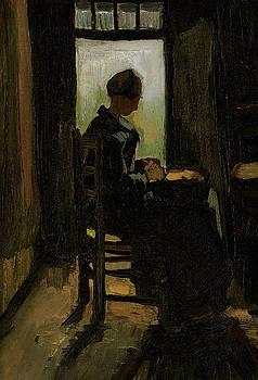 Van Gogh Woman Peeling Potato by Vincent Van Gogh
