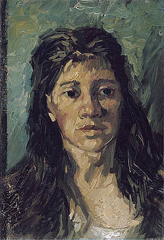Van Gogh Woman with Hair Loose by Vincent Van Gogh