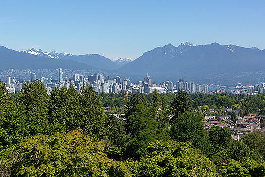Vancouver BC city skyline from Queen Elizabeth Park by David Gn