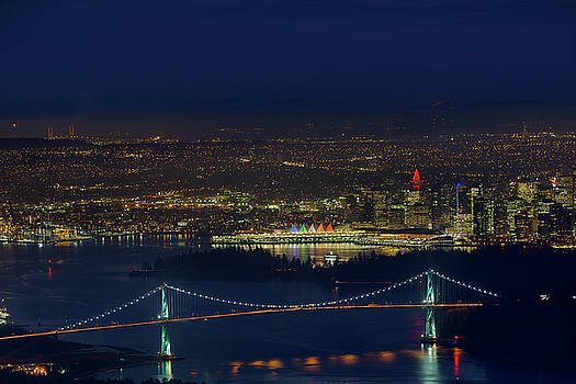Vancouver BC Cityscape by Lions Gate Bridge by David Gn