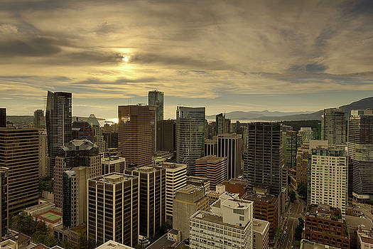 Vancouver BC Cityscape during Sunset by David Gn