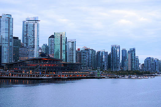 Connie Fox - Vancouver Convention Centre and Skyline at Dawn