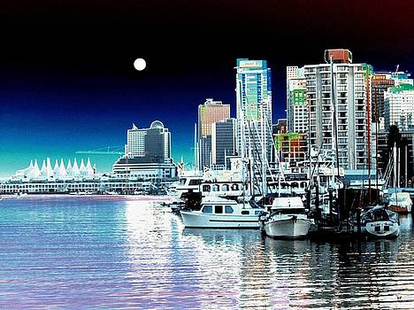 Vancouver Harbor Moonrise  by Will Borden