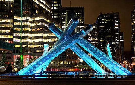 Vancouver Olympic Cauldron at Night by Maria Janicki